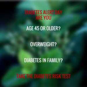 Diabetes alert dayage 45 or